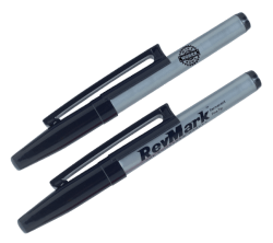Industrial Standard Tip Black Permanent Marker w/ Patented Holster Cap (2 Pack) Product Image