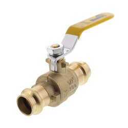 "1/2"" Press Full Port Brass Ball Valve (Lead Free) Product Image"