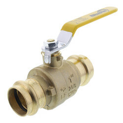 "1"" Press Full Port Brass Ball Valve (Lead Free) Product Image"