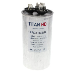 35/5 MFD Round Dual Motor Run Capacitor (440/370V) Product Image