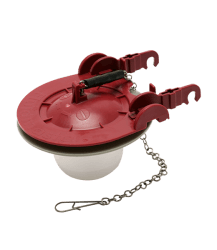 "PRO58 3"" Universal Toilet Flapper (Red) Product Image"