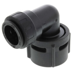 "PSEI63283AE Female Elbow Connector, 3/4"" CTS x 1-1/4"" NPS, Black Product Image"