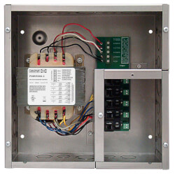 Enclosed Single 500VA Power Supply w/ 5 100VA Class 2 Outputs w/ Hi/Low Voltage Wiring Product Image