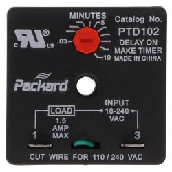 Adjustable Delay on Make Timer (6 Sec. to 8 Min.) Product Image