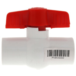 "1/2"" SCH 40 PVC Ball Valve (Solvent) Product Image"
