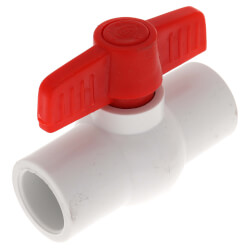 """1/2"""" SCH 40 PVC Ball Valve (Solvent) Product Image"""