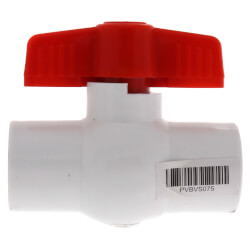 "3/4"" SCH 40 PVC Ball Valve (Solvent) Product Image"