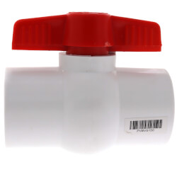 "1-1/2"" SCH 40 PVC Ball Valve (Solvent) Product Image"