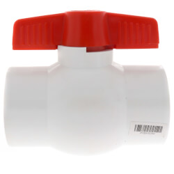 "2"" SCH 40 PVC Ball Valve (Solvent) Product Image"