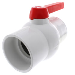 "4"" SCH 40 PVC Ball Valve (Solvent) Product Image"