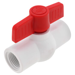 "1/2"" SCH 40 PVC Ball Valve (Threaded) Product Image"