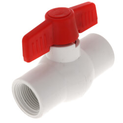 "3/4"" SCH 40 PVC Ball Valve (Threaded) Product Image"