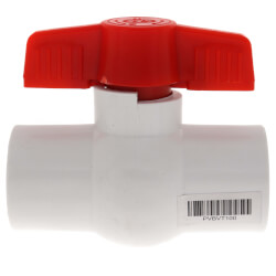"1"" SCH 40 PVC Ball Valve (Threaded) Product Image"