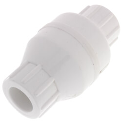 """1/2"""" PVC In-Line Check Valve w/ SS Spring (Solvent) Product Image"""