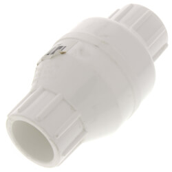 """3/4"""" PVC In-Line Check Valve w/ SS Spring (Solvent) Product Image"""