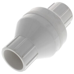 """1-1/4"""" PVC In-Line Check Valve w/ SS Spring (Solvent) Product Image"""