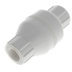 "1/2"" PVC In-Line Check Valve w/ SS Spring (Threaded) Product Image"