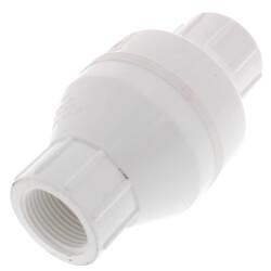 """1"""" PVC In-Line Check Valve w/ SS Spring (Threaded) Product Image"""