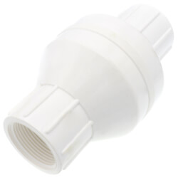 """1-1/4"""" PVC In-Line Check Valve w/ SS Spring (Threaded) Product Image"""