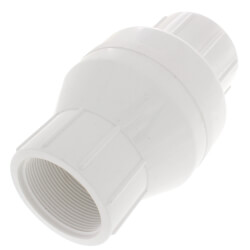 """2"""" PVC In-Line Check Valve w/ SS Spring (Threaded) Product Image"""