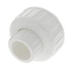 "1/2"" PVC Sch. 40 Socket Union w/ Buna O-ring Product Image"