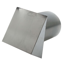 "PWC10R 10"" Galvanized Steel Wall Cap Product Image"