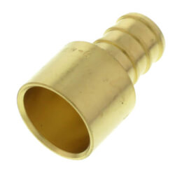 "1/2"" PEX x 1/2"" Female Sweat Copper Pipe Brass Adapter (Lead Free) Product Image"