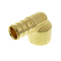 "1/2"" PEX x 1/2"" Copper Pipe Brass Elbow<br>(Lead Free) Product Image"
