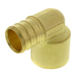 "3/4"" PEX x 3/4"" Copper Pipe Brass Elbow (Lead Free) Product Image"