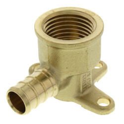 "1/2"" PEX x 1/2"" NPT Brass Drop Ear Elbow<br>(Lead Free) Product Image"