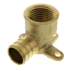 "3/4"" PEX x 1/2"" NPT<br>Brass Drop Ear Elbow<br>(Lead Free) Product Image"