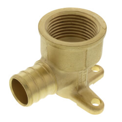 "3/4"" PEX x 3/4"" NPT Brass Drop Ear Elbow<br>(Lead Free) Product Image"