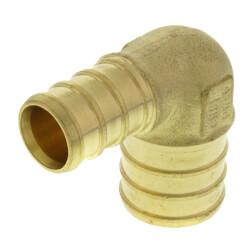 "1/2"" PEX x 3/4"" PEX Brass 90 Elbow (Lead Free) Product Image"