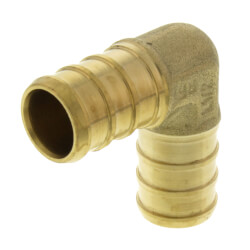 "1/2"" PEX Brass 90 Elbow (Lead Free) Product Image"