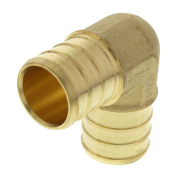"3/4"" PEX Brass 90 Elbow (Lead Free) Product Image"