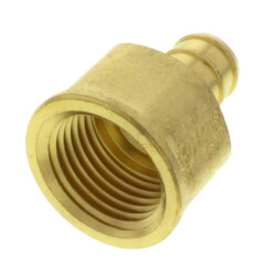 "1/2"" PEX x 1/2"" NPT Brass Female Adapter<br>(Lead Free) Product Image"