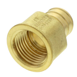 """3/4"""" PEX x 1/2"""" NPT Brass Female Adapter<br>(Lead Free) Product Image"""