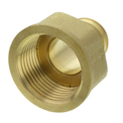 "1"" PEX x 1"" NPT Brass Female Adapter<br>(Lead Free) Product Image"