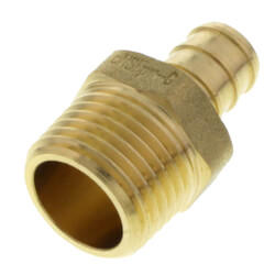 "1/2"" PEX x 1/2"" NPT Brass Male Adapter (Lead Free) Product Image"