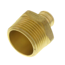 """3/4"""" PEX x 1"""" NPT Brass Male Adapter (Lead Free) Product Image"""