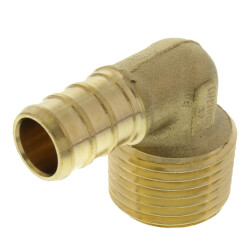 "1/2"" PEX x 1/2"" Male Threaded Brass Elbow (Lead Free) Product Image"