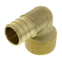 "3/4"" PEX x 3/4"" Male Threaded Brass Elbow (Lead Free) Product Image"