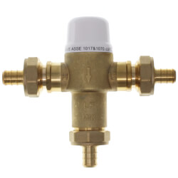 "1/2"" Union PEX Crimp Mixing Valve, 80 to 120F (Lead Free) Product Image"