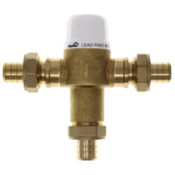 "3/4"" Union PEX Crimp Mixing Valve, 80 to 120F (Lead Free) Product Image"