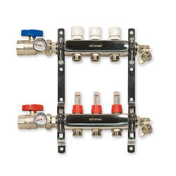 "3 Loop Stainless Steel Manifold Package <br>(1/2"" PEX) Product Image"