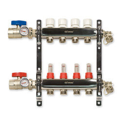 "4 Loop Stainless Steel Manifold Package <br>(1/2"" PEX) Product Image"