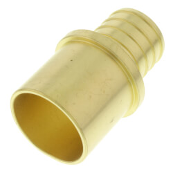 """1"""" PEX x Male Sweat Copper Fitting Brass Adapter (Lead Free) Product Image"""