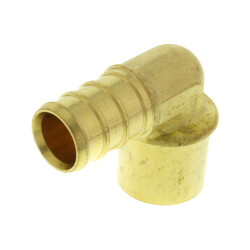 "1/2"" PEX x 1/2"" Copper Fitting Brass Elbow<br>(Lead Free) Product Image"