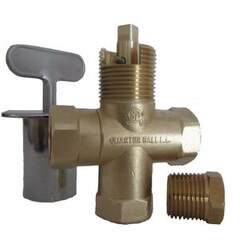 Universal Gas Log Lighter Valve w/ Key & Nut, Polished Brass Escutcheon Product Image