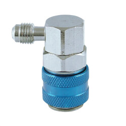 "1/4"" SAE Male 90° R134A Snap-N-Seal Automotive Coupler Product Image"